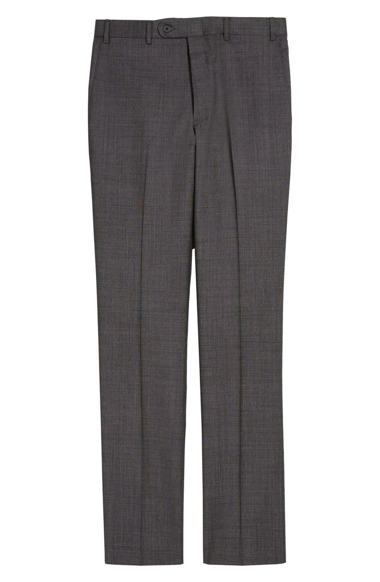 JOHN W. NORDSTROM<SUP>®</SUP> Torino Flat Front Solid Wool Trousers, Main, color, 030