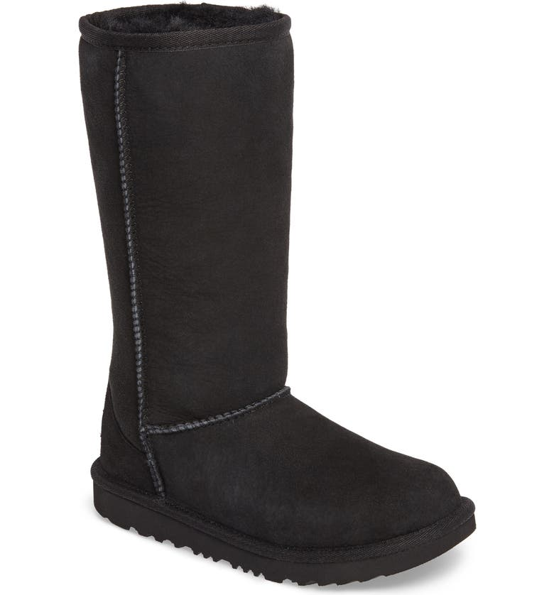 UGG<SUP>®</SUP> Classic II Water-Resistant Tall Boot, Main, color, BLACK