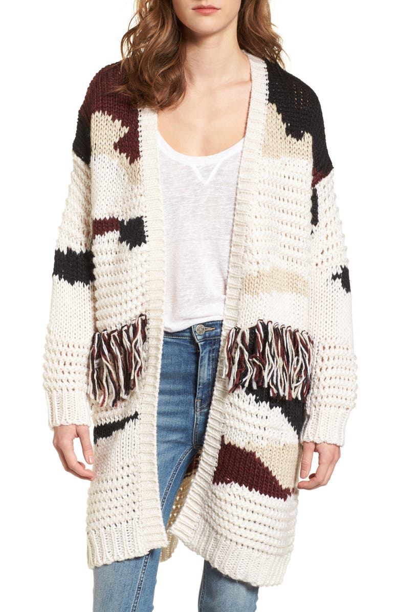 ZZDNU WILLOW & CLAY Willow & Clay Chunky Fringe Cardigan, Main, color, 540