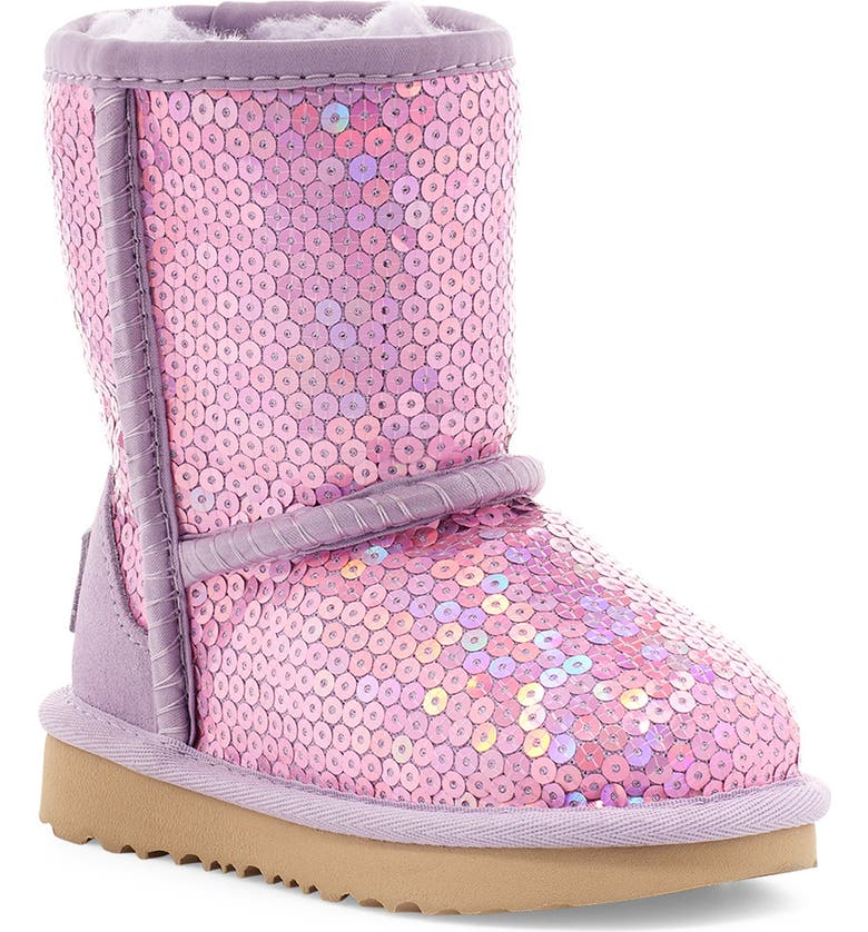 UGG<SUP>®</SUP> Classic II Stellar Sequin Boots, Main, color, LILAC FROST