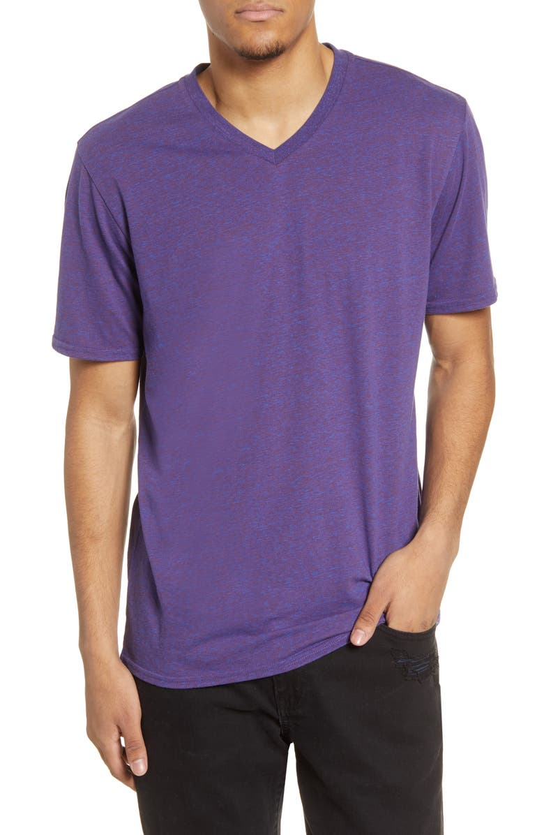 THREADS 4 THOUGHT Slim Fit V-Neck T-Shirt, Main, color, MULTI PURPLE