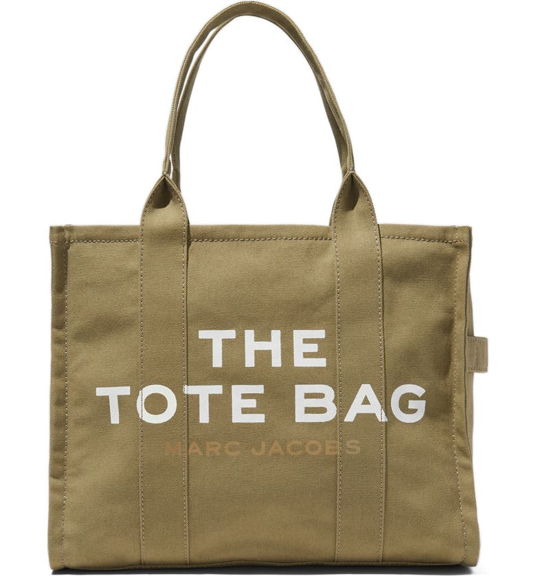 THE MARC JACOBS Traveler Canvas Tote, Main, color, SLATE GREEN