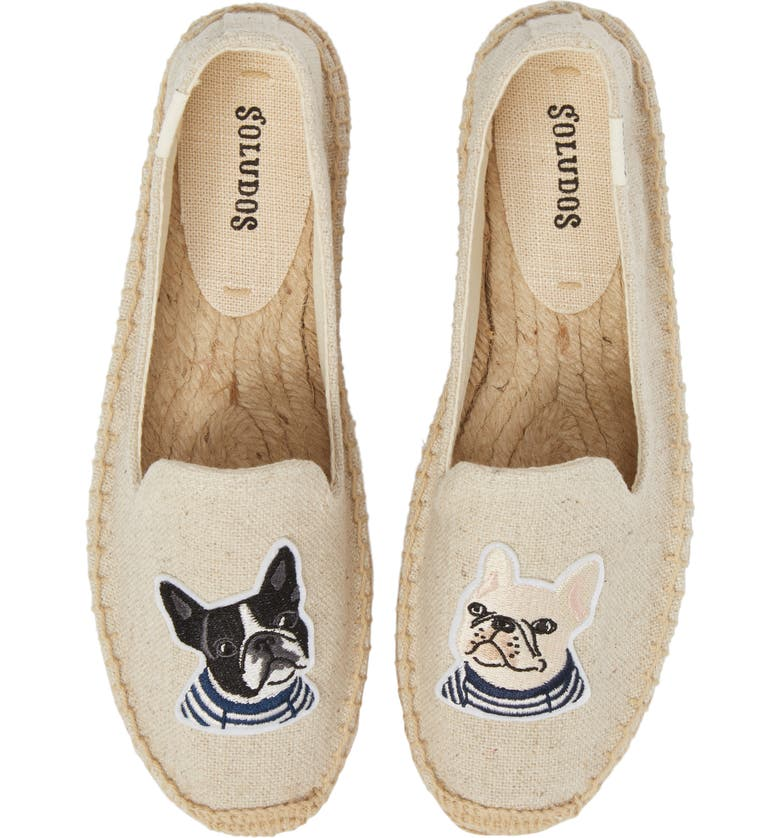 SOLUDOS Teddy & Gigi Appliqué Espadrille, Main, color, SAND CANVAS