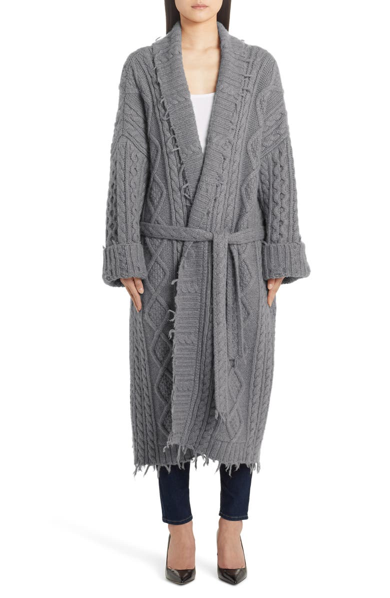 ALANUI Oversize Fisherman Cardigan Coat, Main, color, 020