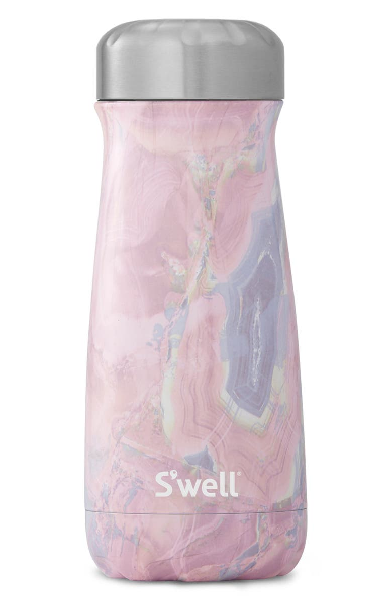 S'WELL Traveler Geode Rose 16-Ounce Insulated Traveler Bottle, Main, color, GEODE ROSE