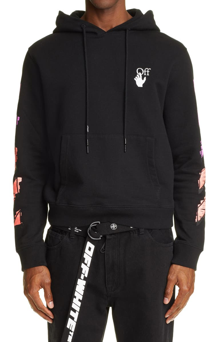 OFF-WHITE Marker Arrow Graphic Hoodie, Main, color, 001