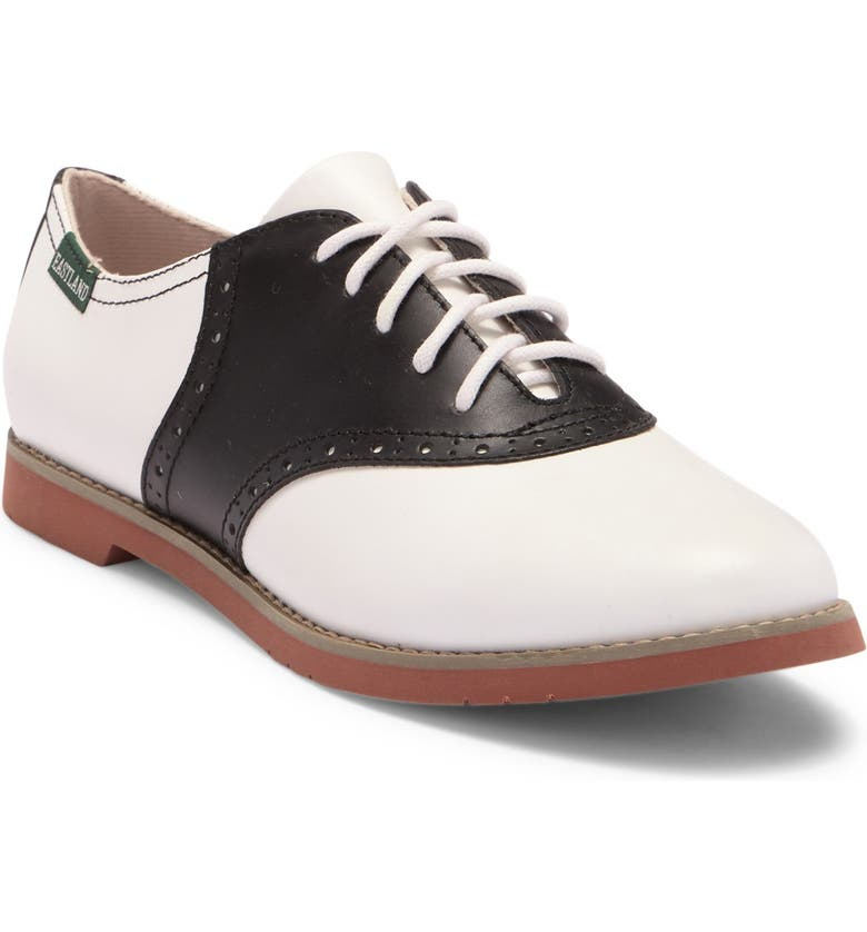 EASTLAND Sadie Oxford - Wide Width Available, Main, color, BLK AND WHT
