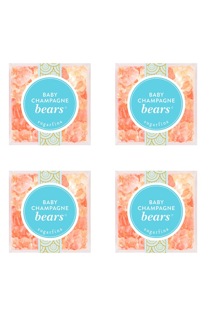 SUGARFINA Baby Champagne Bears Set of 4 Candy Cubes, Main, color, 400
