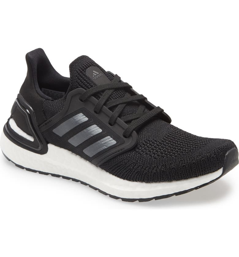ADIDAS UltraBoost 20 Running Shoe, Main, color, BLACK/ NIGHT METALLIC/ WHITE