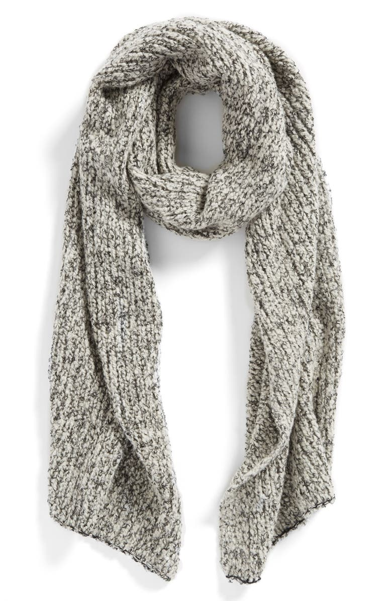 FREE PEOPLE 'Scrabble' Knit Scarf, Main, color, 020