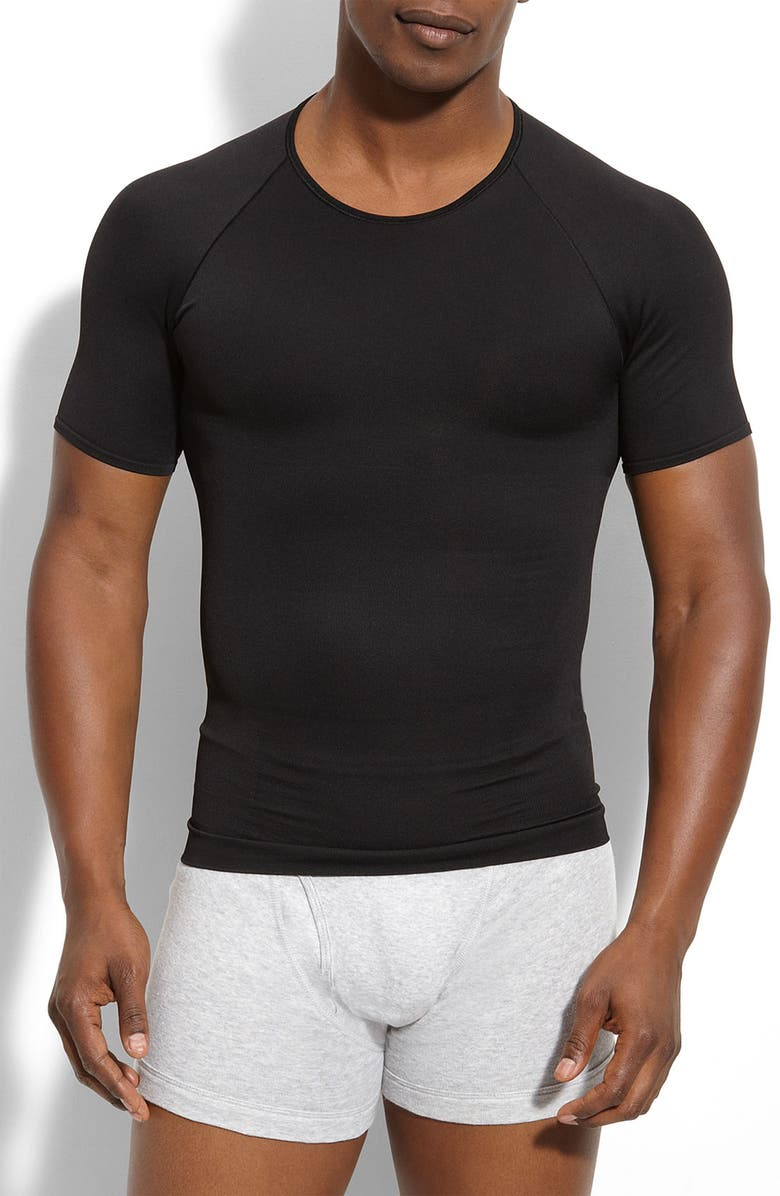 SPANX<SUP>®</SUP> Zoned Performance Crewneck T-Shirt, Main, color, 001