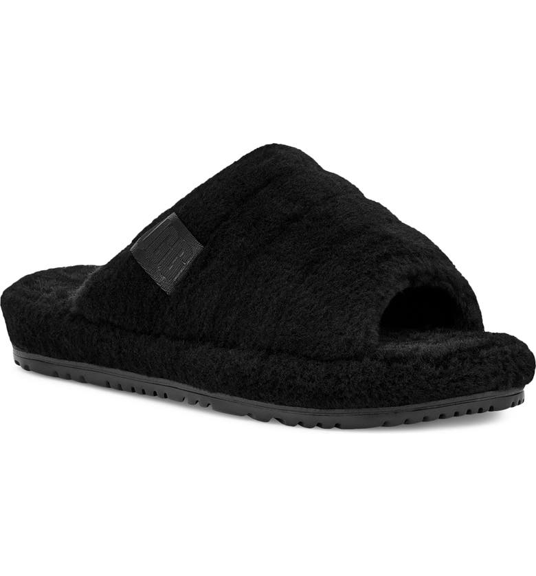 UGG<SUP>®</SUP> Fluff You Slipper, Main, color, BLACK