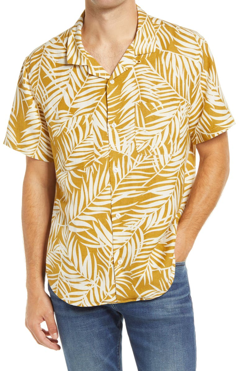 MADEWELL Fern Fronds Easy Camp Shirt, Main, color, 204