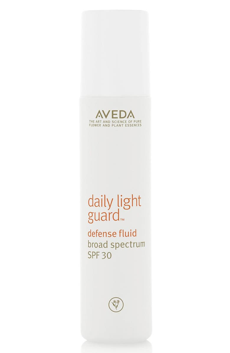AVEDA daily light guard<sup>™</sup> Defense Fluid Broad Spectrum SPF 30 Sunscreen, Main, color, 000