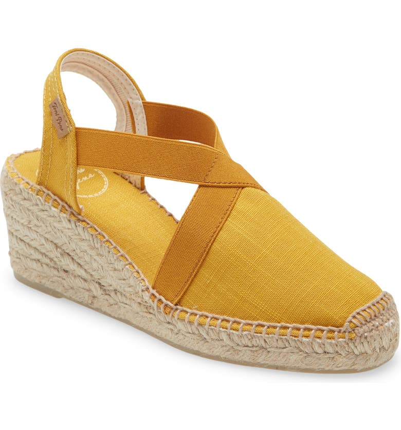 TONI PONS 'Ter' Slingback Espadrille Sandal, Main, color, YELLOW FABRIC