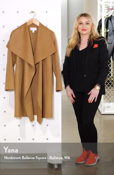 Cascade Collar Double Face Wool & Cashmere Coat, sales video thumbnail