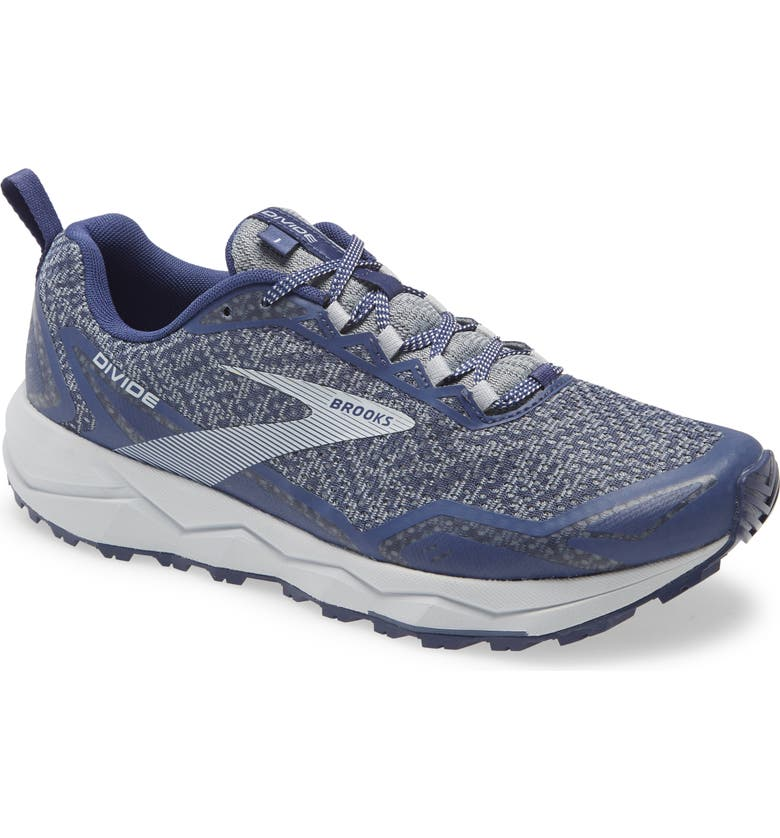 BROOKS Divide Trail Running Shoe, Main, color, DEEP COBALT/ GREY/ BLUE