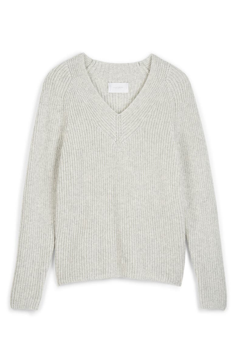 LUCKY BRAND V-Neck Sweater, Main, color, LT HEATHER GREY