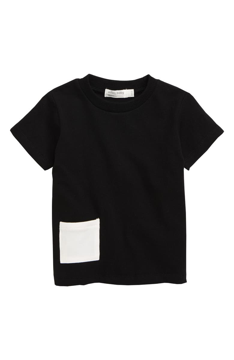 MILES baby Stretch Organic Cotton T-Shirt, Main, color, 001