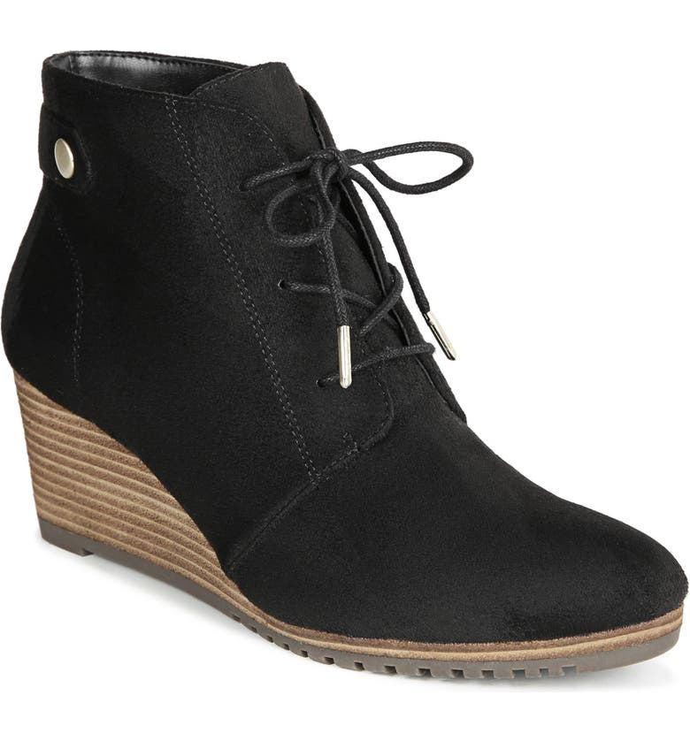 DR. SCHOLL'S Conquer Wedge Bootie, Main, color, 001