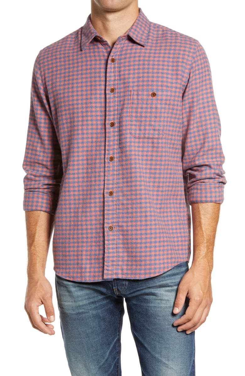FAHERTY Stretch Seaview Check Flannel Button-Up Shirt, Main, color, 610