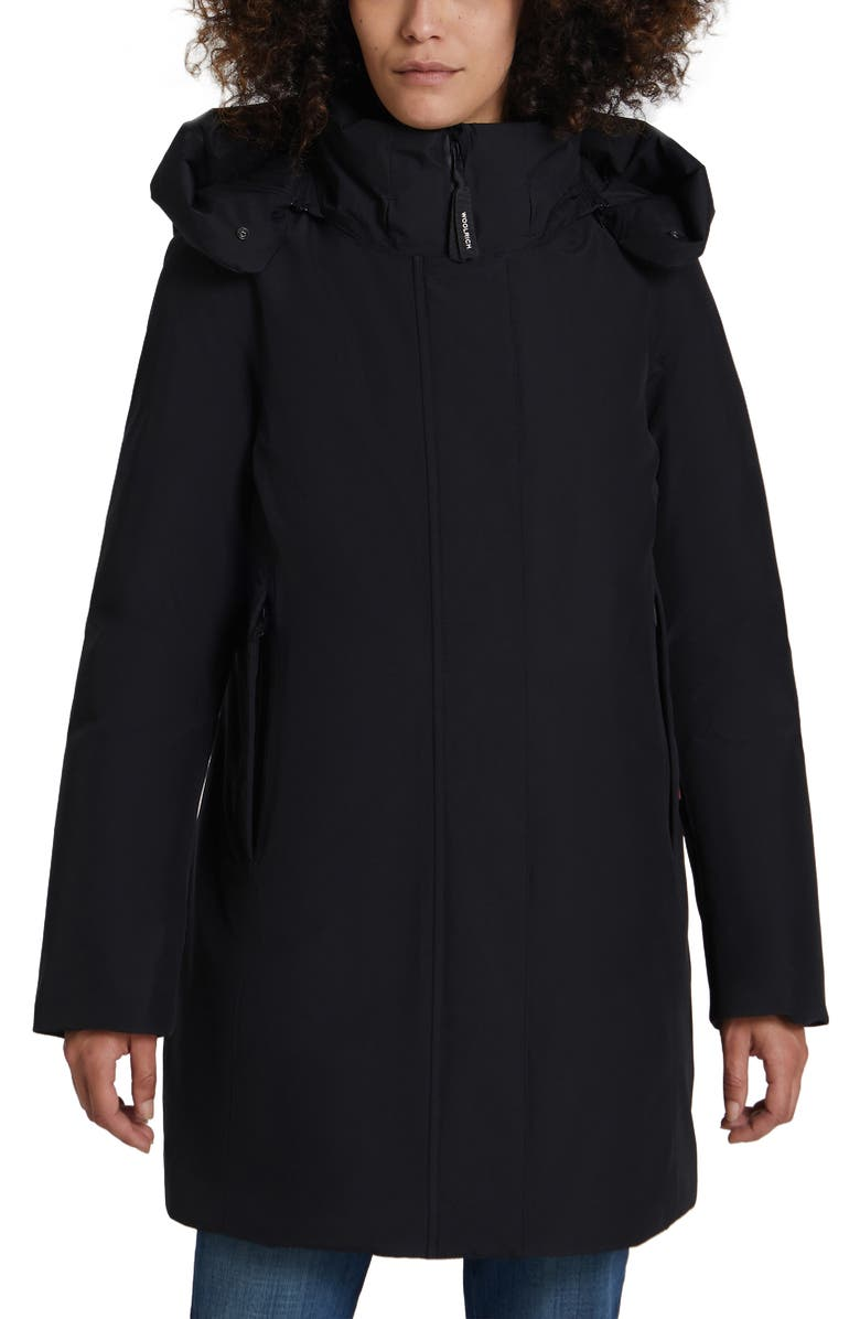 WOOLRICH Marshall Gore-Tex<sup>®</sup> Water Repellent Down Parka, Main, color, Black