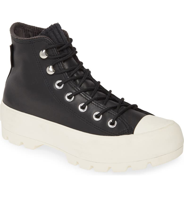 CONVERSE Chuck Taylor<sup>®</sup> All Star<sup>®</sup> Gore-Tex<sup>®</sup> Waterproof Lugged High Top Sneaker, Main, color, 001