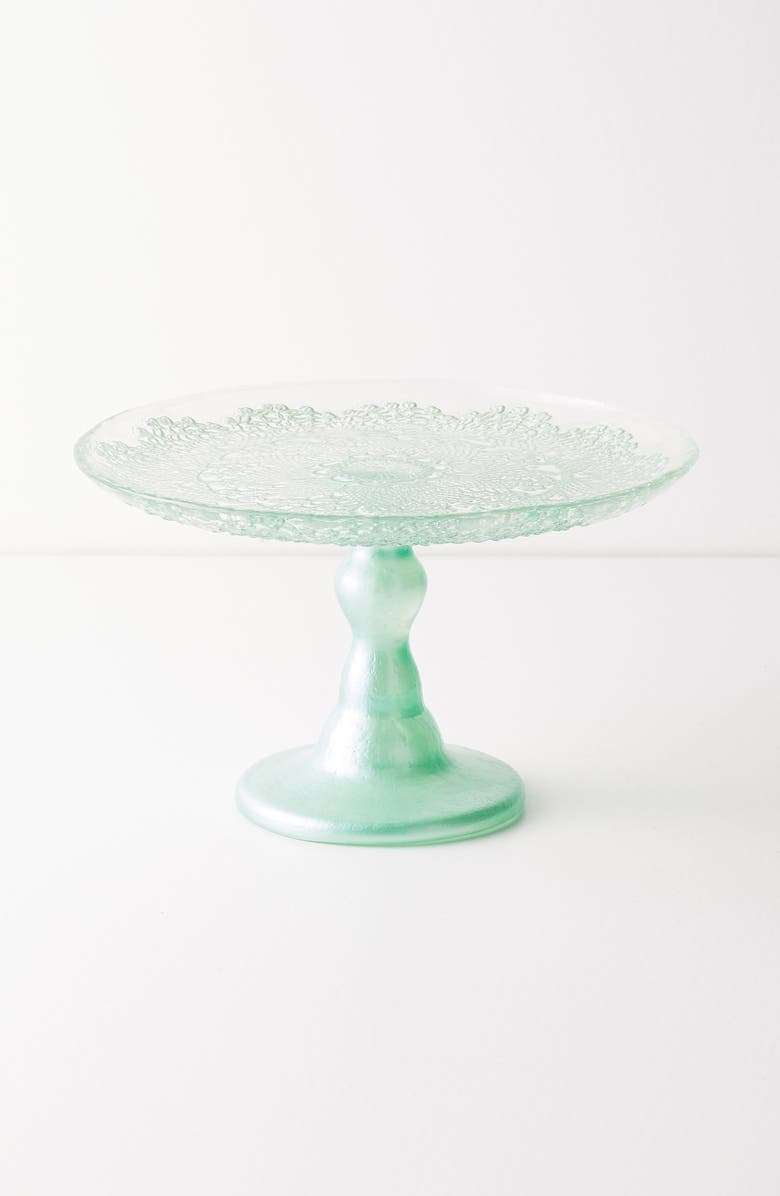 ANTHROPOLOGIE HOME Anthropologie Metallic Lace Cake Stand, Main, color, 300
