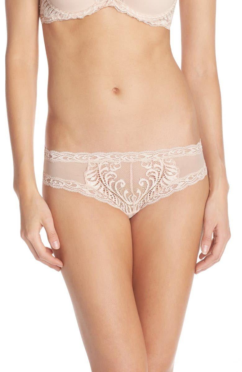 NATORI Feathers Hipster Briefs, Main, color, CAMEO ROSE