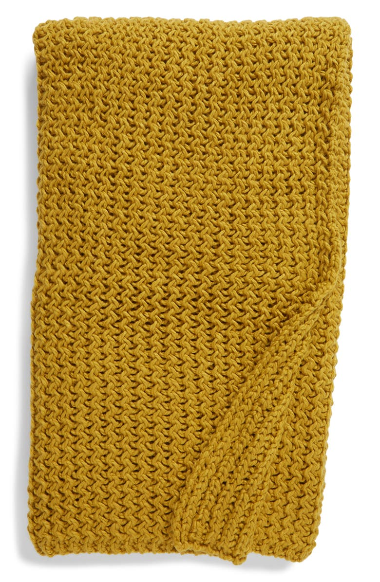 NORDSTROM Ripple Knit Throw Blanket, Main, color, 301