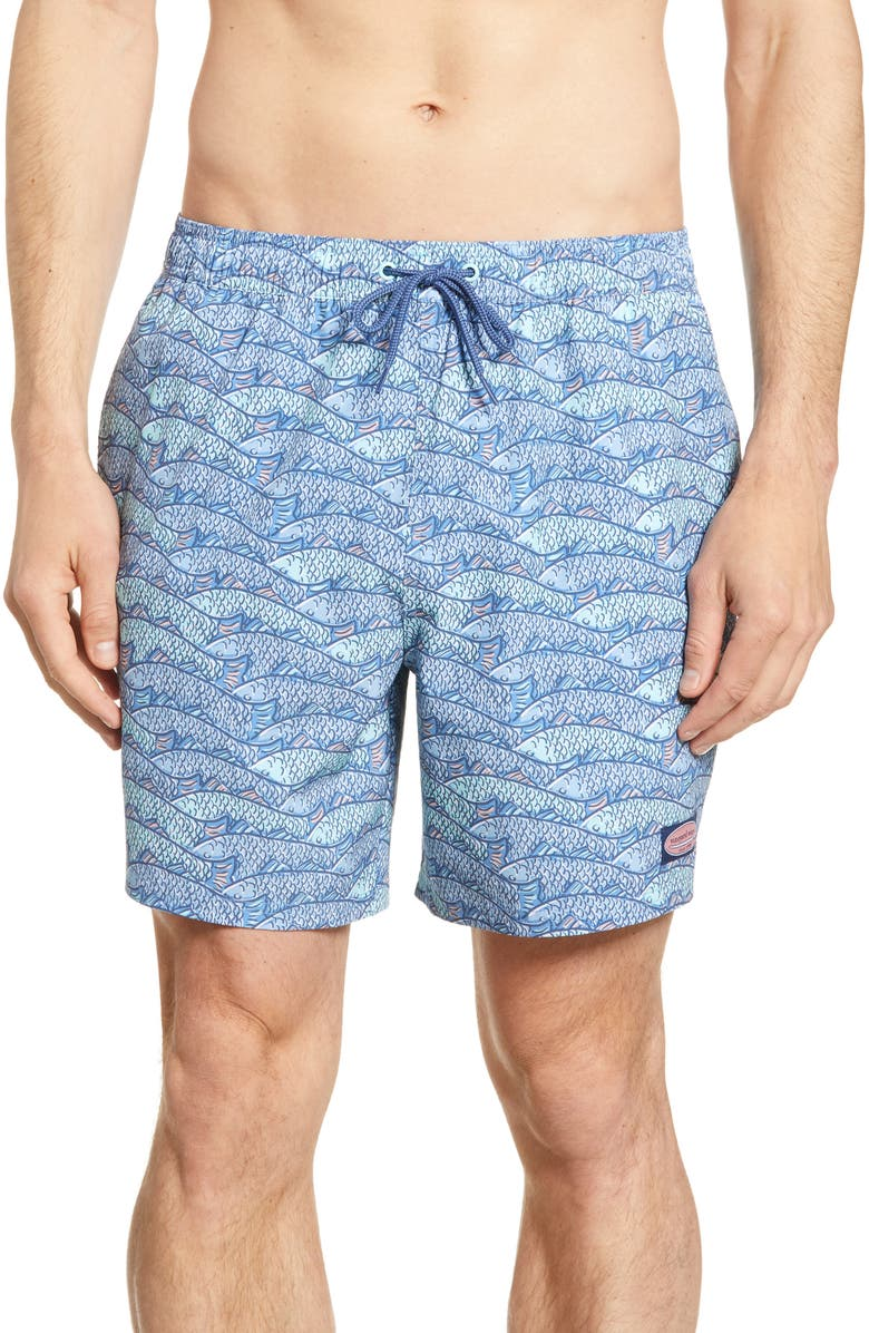 VINEYARD VINES Chappy Fish Traffic Swim Trunks, Main, color, 464