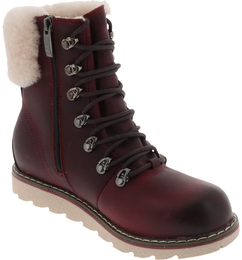 ROYAL CANADIAN Cambridge Waterproof Snow Boot with Genuine Shearling Cuff, Main, color, RUBEUS LEATHER