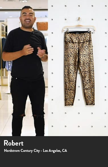 Chi Chi Foil Animal Print High Waist Leggings, sales video thumbnail