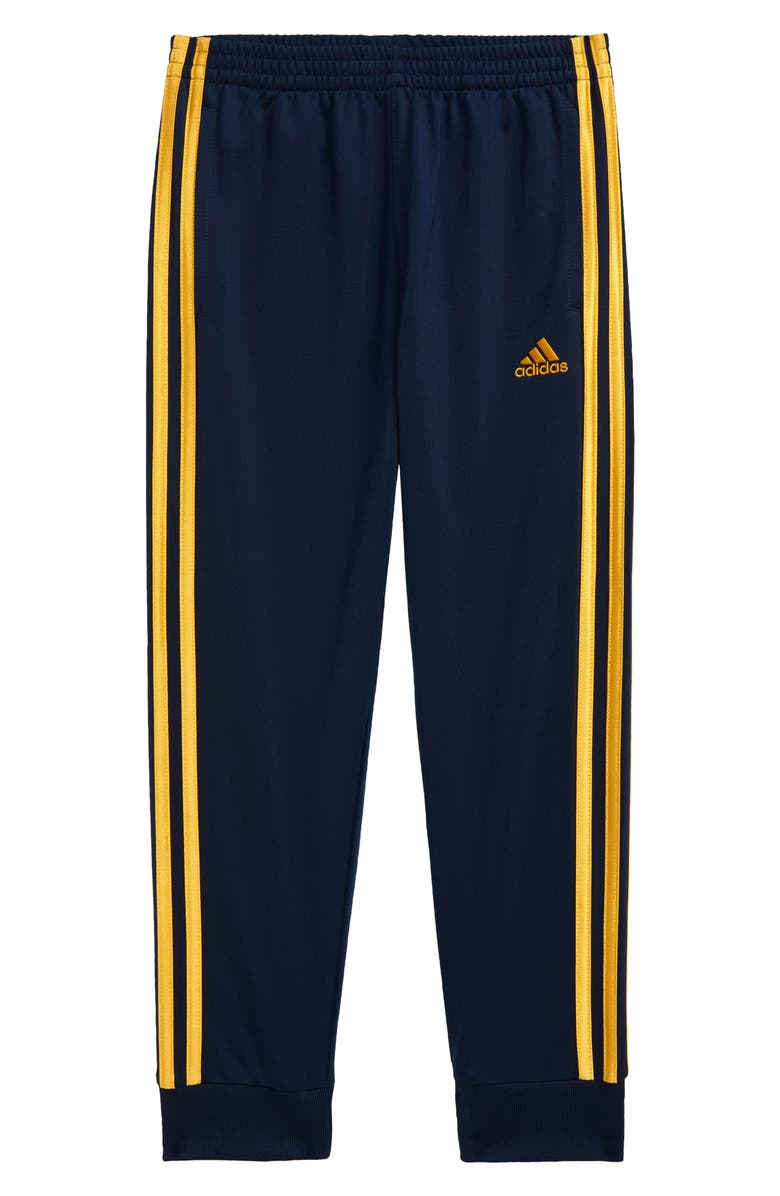 ADIDAS Kids' Tricot Joggers, Main, color, NAVY/ YELLOW