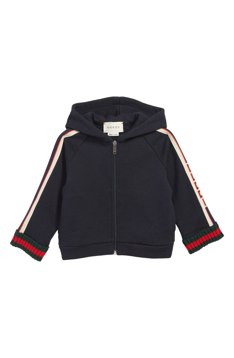 GUCCI Full Zip Hoodie, Main, color, 493