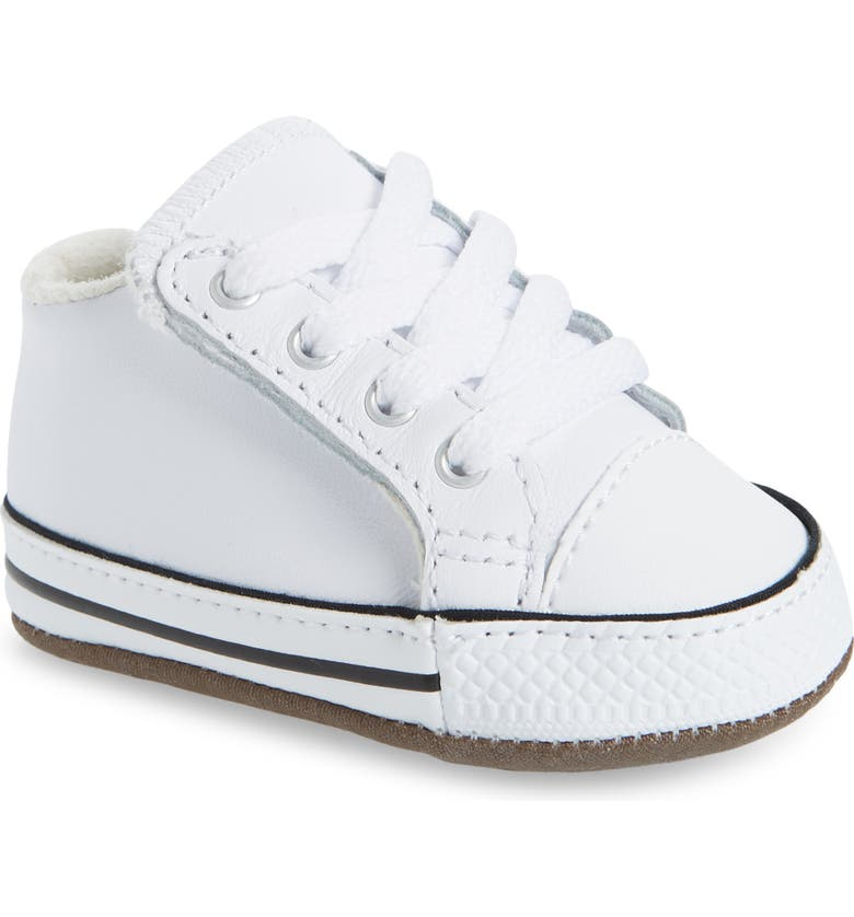 CONVERSE Chuck Taylor<sup>®</sup> All Star<sup>®</sup> Cribster Crib Shoe, Main, color, WHITE/ NATURAL IVORY/ WHITE