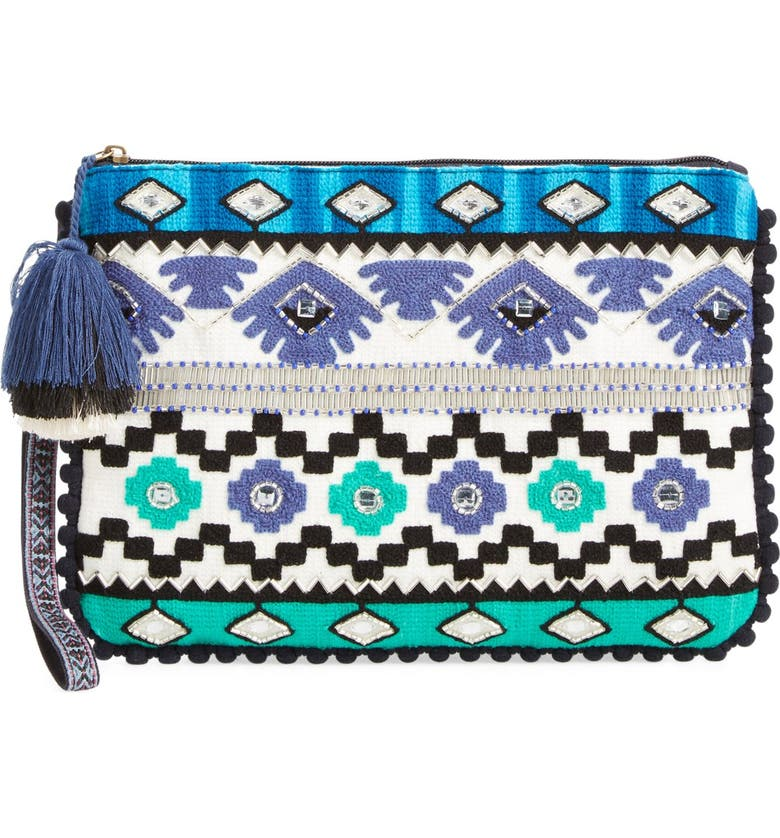 STEVEN BY STEVE MADDEN Beaded Clutch, Main, color, 400