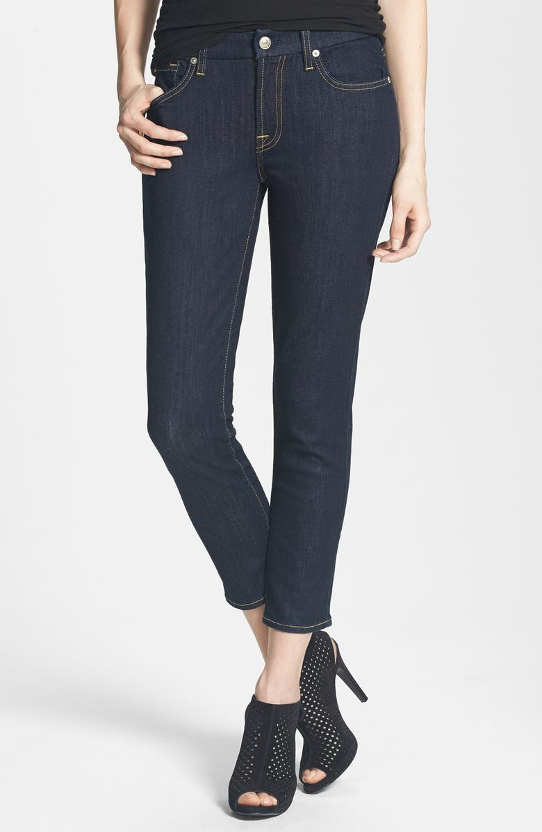 7 FOR ALL MANKIND <sup>®</sup> 'Kimmie' Crop Skinny Jeans, Main, color, INK