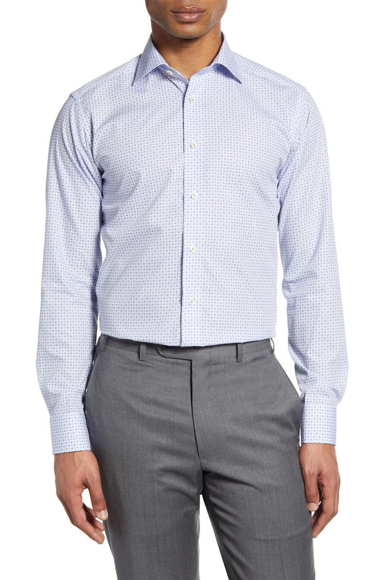 ETON Slim Fit Geometric Dress Shirt, Main, color, 200