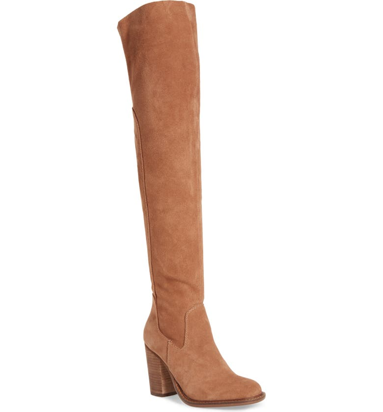 KELSI DAGGER BROOKLYN Logan Over the Knee Boot, Main, color, CHESTNUT