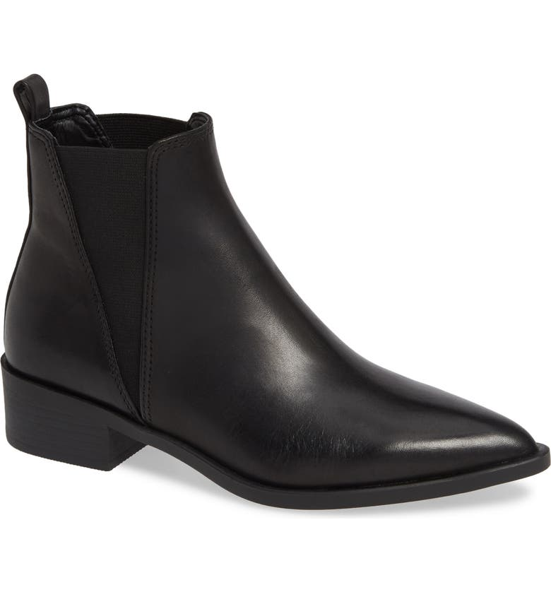 STEVE MADDEN Jerry Chelsea Boot, Main, color, BLACK LEATHER