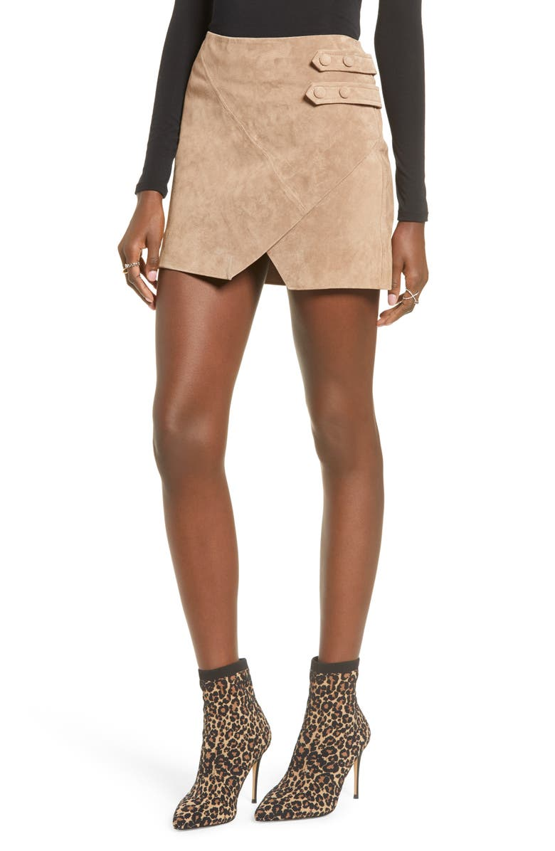 BLANKNYC Suede Miniskirt, Main, color, 250