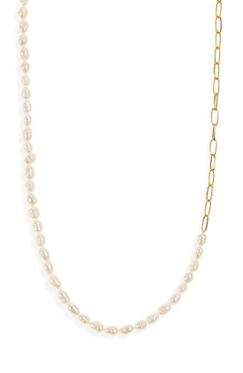 MADEWELL Freshwater Pearl Chain Necklace, Main, color, FRESHWATER PEARL