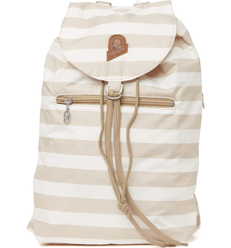 INVICTA BAGS Stripe Minisac Heritage Backpack, Main, color, 001