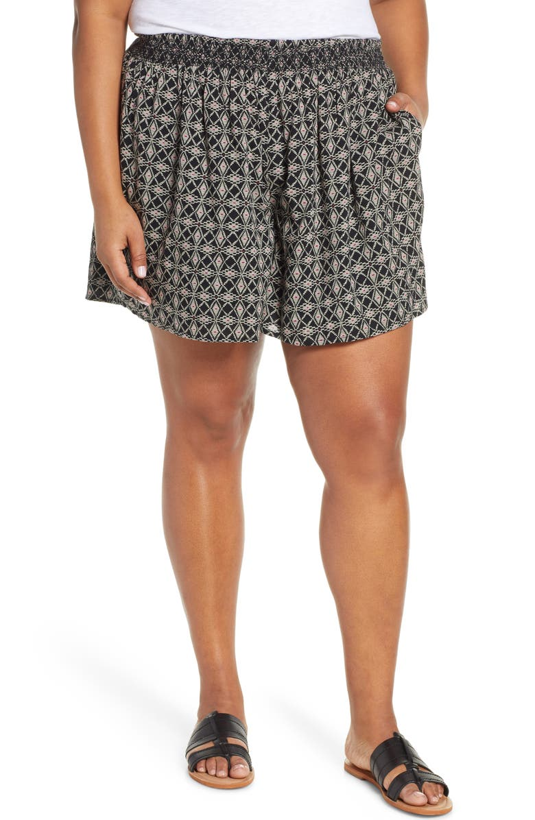 CASLON<SUP>®</SUP> Pull-On Printed Shorts, Main, color, 001