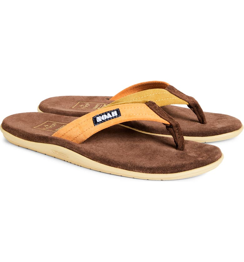 NOAH x Island Slipper Flip Flop, Main, color, BROWN/ORANGE/GOLD