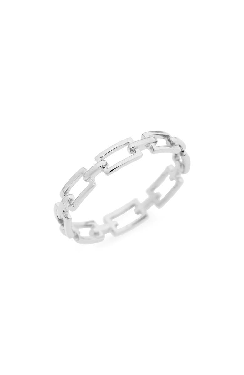 BONY LEVY 14K Gold Link Stacking Ring, Main, color, WHITE GOLD