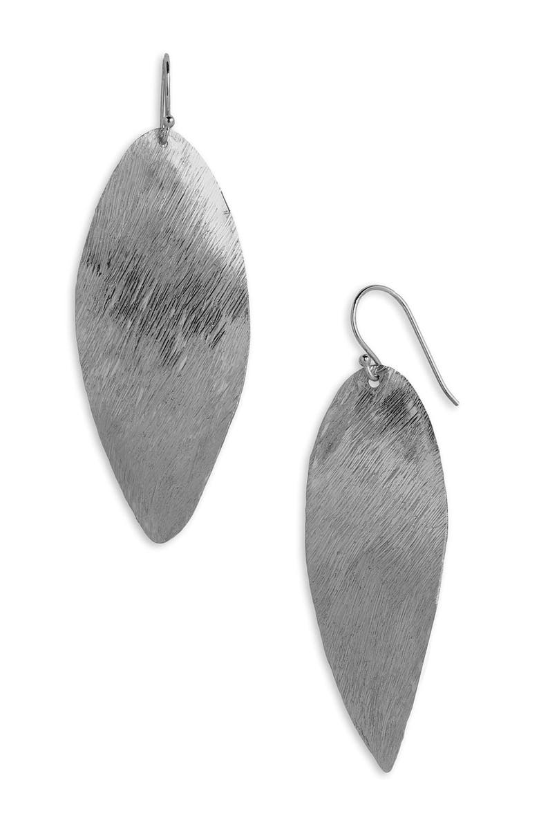ARGENTO VIVO STERLING SILVER Argento Vivo Twist Leaf Earrings, Main, color, 001
