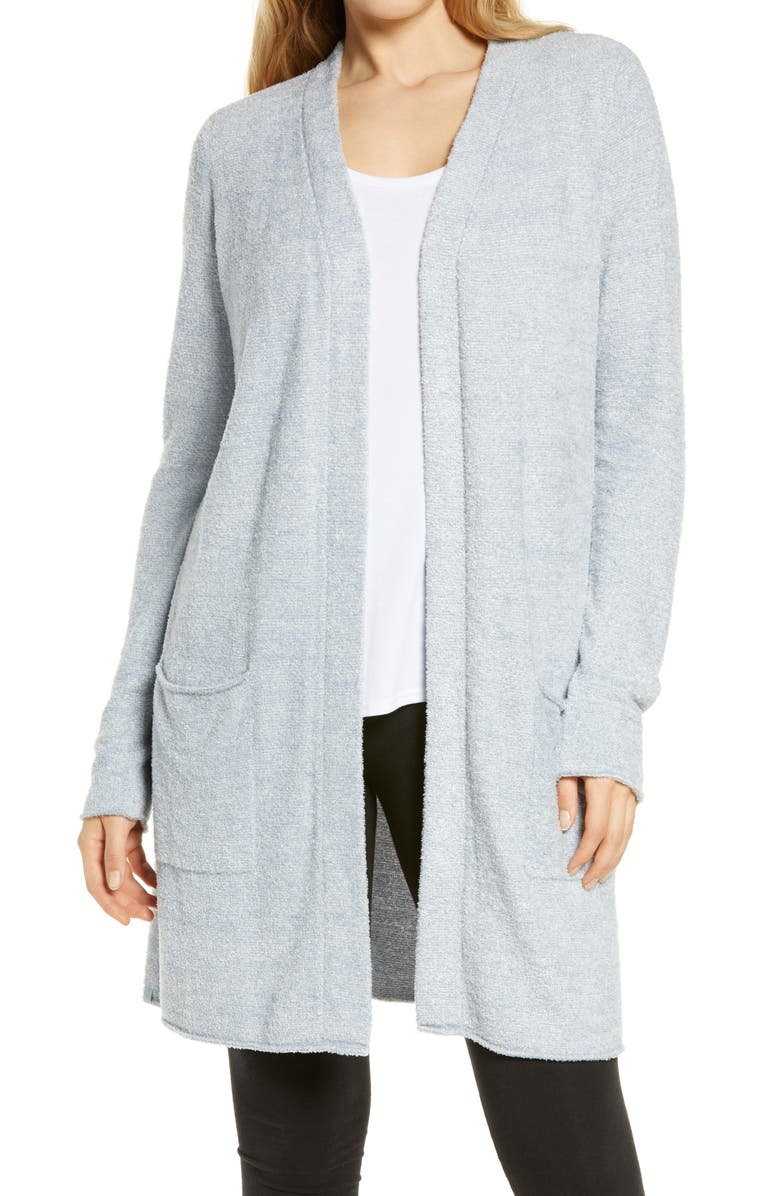 BAREFOOT DREAMS<SUP>®</SUP> CozyChic Lite<sup>®</sup> Long Cardigan, Main, color, DENIM BLUE-WHITE