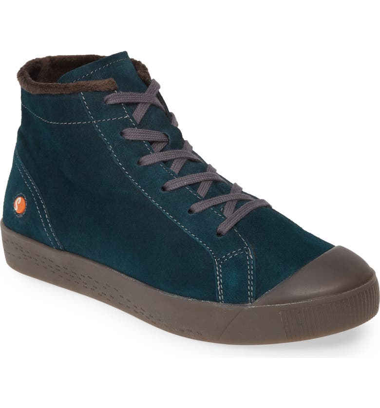 SOFTINOS BY FLY LONDON Kip High Top Sneaker, Main, color, DARK PETROL LEATHER